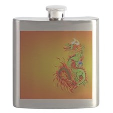 CoinPurse  Flaming Dragon Flask