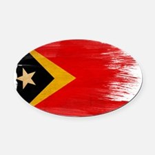 Timor Lestetex3-paint styletex3-pa Oval Car Magnet