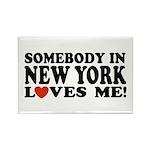 Somebody in New York Loves Me Rectangle Magnet