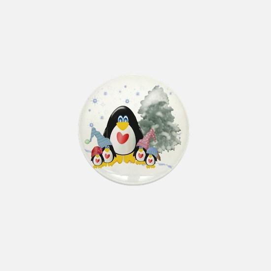 penguins winter-001 Mini Button