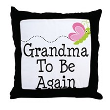 Grandma To Be again Throw Pillow