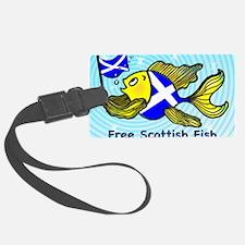 Free Scottish Fish, Scottish Fla Luggage Tag