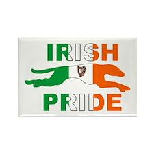 Greyhound Rectangle Magnet/Irish Pride