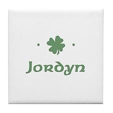 """""""Shamrock - Jordyn"""" Tile Coaster"""