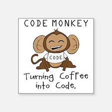 "codemonkey-cafepress Square Sticker 3"" x 3"""