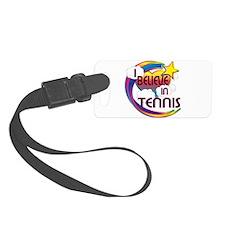 I Believe In Tennis Cute Believer Design Luggage Tag
