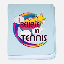 I Believe In Tennis Cute Believer Design baby blan