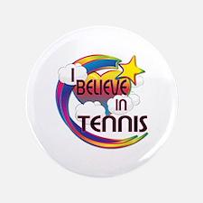 """I Believe In Tennis Cute Believer Design 3.5"""" Butt"""