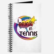 I Believe In Tennis Cute Believer Design Journal