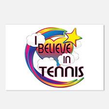 I Believe In Tennis Cute Believer Design Postcards