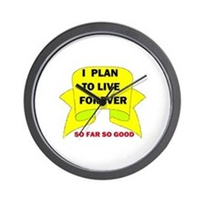 LIVE FOREVER Wall Clock