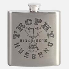 Trophy Husband Since 2012 Gray Flask