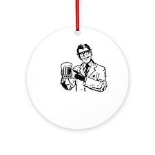 alcoholisasolutionDARK Round Ornament