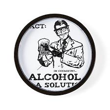 alcoholisasolution Wall Clock