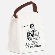 alcoholisasolutionEXTRAS Canvas Lunch Bag