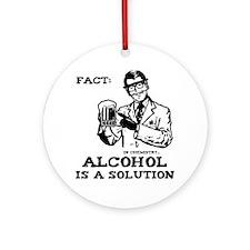 alcoholisasolutionEXTRAS Round Ornament
