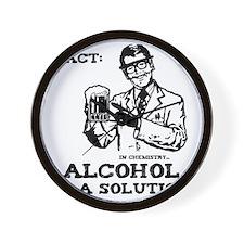alcoholisasolutionEXTRAS Wall Clock