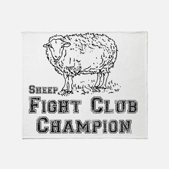sheep fight club Throw Blanket