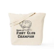 sheep fight club Tote Bag