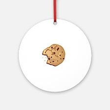 Cookies dude dark Round Ornament