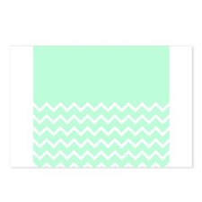 Mint Green and Zigzags. Postcards (Package of 8)