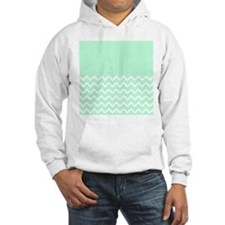 Mint Green and Zigzags. Hoodie