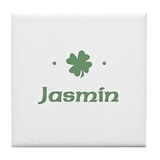 """Shamrock - Jasmin"" Tile Coaster"