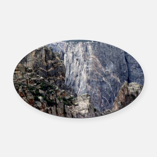 Colorado Black Canyon 2 Oval Car Magnet