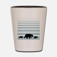grizzlybag2 Shot Glass