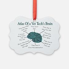 atlas of a vet techs brain Ornament