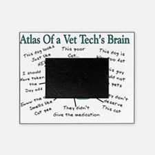 atlas of a vet techs brain Picture Frame