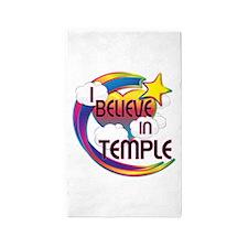 I Believe In Temple Cute Believer Design 3'x5' Are
