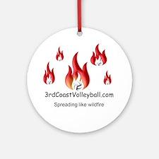 Wildfire Round Ornament