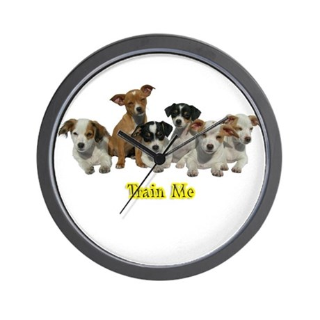 PUPPY 1160 Train Me Wall Clock