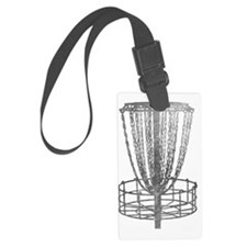 Metal Basket - Disc Golf NO TEXT Luggage Tag