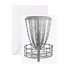 Metal Basket - Disc Golf NO TEXT Greeting Card