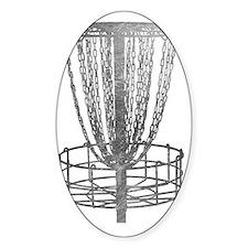 Metal Basket - Disc Golf NO TEXT Decal