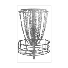Metal Basket - Disc Golf NO TE Decal
