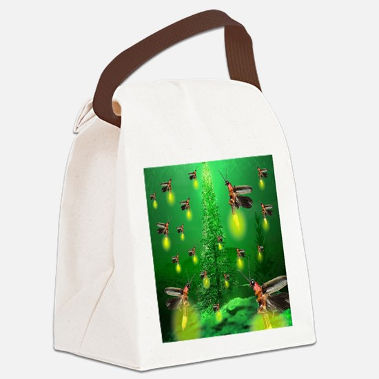 firefly_christmas_tree_1024x1024 Canvas Lunch Bag