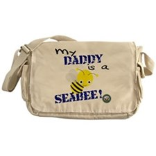 Daddy is a Seabee Messenger Bag