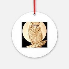 owl1 Round Ornament