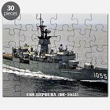 hepburn de large framed print Puzzle