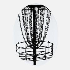 black basket NO TEXT Oval Ornament