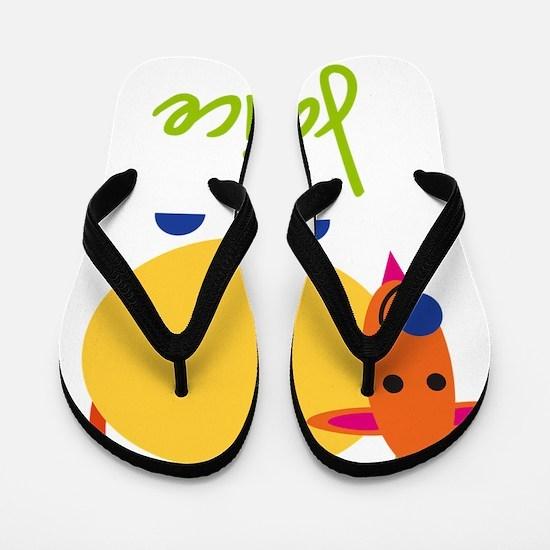 Janice-the-goat Flip Flops