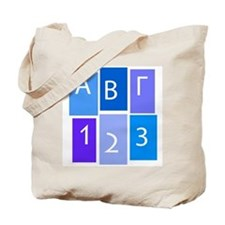 GREEK ABC/123 Tote Bag