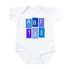 GREEK ABC/123 Infant Bodysuit