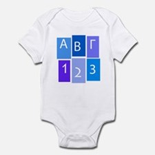 GREEK ABC/123 Infant Bodysuit