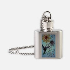 hummingbird02 Flask Necklace