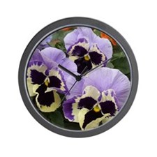 Multi colored Pansies Wall Clock