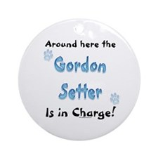 Gordon Setter Charge Ornament (Round)